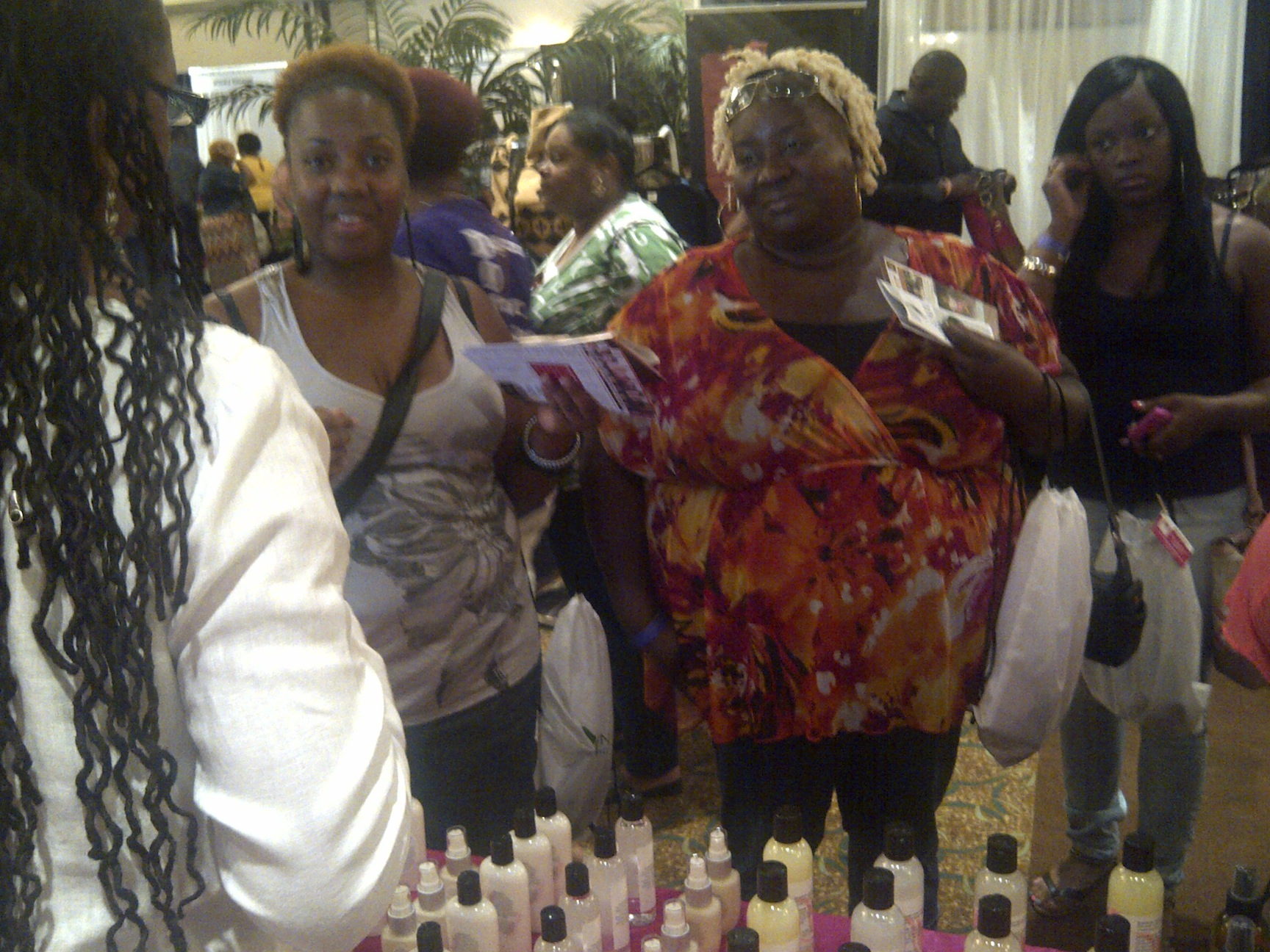Natural Black Hair Care:  Working the Trade Shows and Talking  To You!